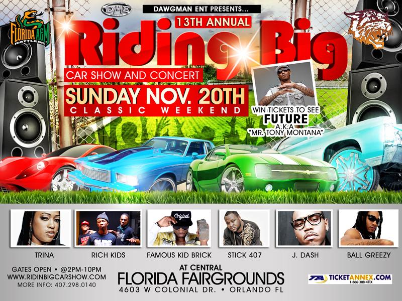Th Annual Riding Big Car Show Concert WON - Car show orlando fl