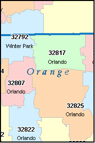 Orlando Florida Zip Code Map | compressportnederland on