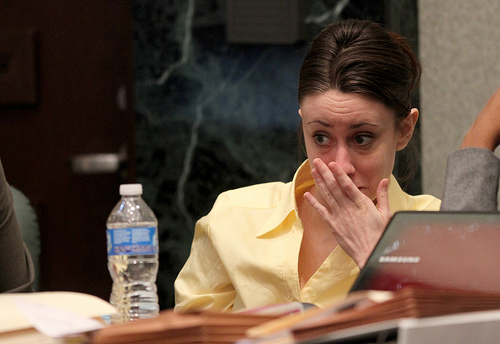 casey anthony crime scene photos released. Casey Anthony listens as video