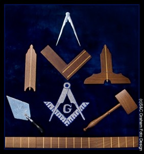 Tools of operative and speculative masonry, as used by the old stonemasons of Mideval times