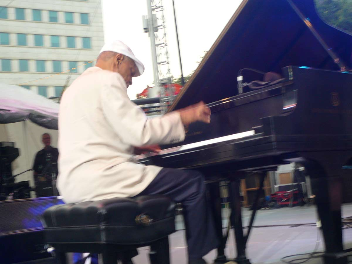 McCoy Tyner on stage at DJF