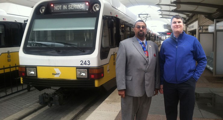 Paul Curtis, Curtoom Companies and L. Brian Ehrler, Burns Group, Engineering Consultants for Project Management Oversight Support Services to Federal Transit Administration High Speed Rail Program modernization.