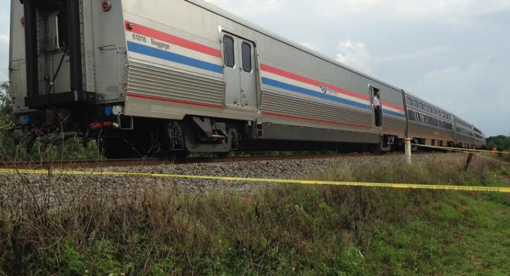 Amtrak train - (Photo courtesy: Polk County Sheriff's Office)