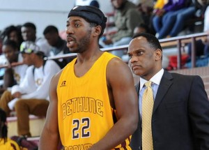 Ricky Johnson and Head Coach Gravelle Craig (Photo courtesy: B-CU Athletics.com)