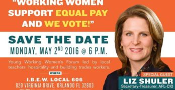 Orlando Teachers, Hospitality & Building Trades Workers to Host Young Working Women Voters Forum