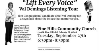 Chief Val Demings Announces Congressional District Listening Tour