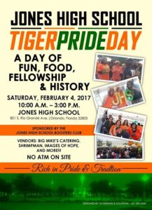 Jones High School Tiger Pride Day