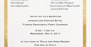 State Democrats' Reception in Winter Park Tonight Ignored Local Party Leadership