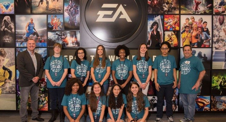 """Get in the Game"" Immerses Young Women in STEAM Careers at Electronic Arts Camp"